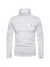 Leisure Solid High Collar Men t Shirt Design