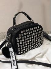 Shiny Diamond Plush Ball Pendant Shoulder Bags