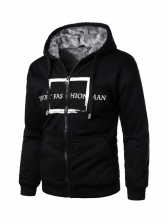 Hip Pop Printing Men Zip Up Hoodies