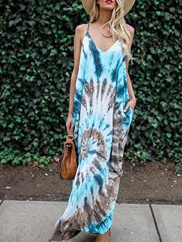 Bohemian Printed Sleeveless Maxi Dress