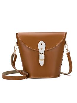 Inverted Trapezoidal Detachable Belt Bucket Bags