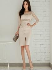 Graceful Lace Patchwork Dresses For Women