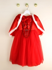Christmas Cinderella Gown For Girls With Cloak