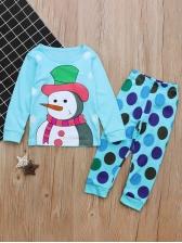 Christmas Snowman Two Piece Pants Set