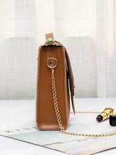 Vintage Style Metal Decorated Chain Shoulder Bag