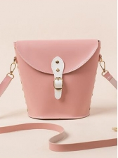Inverted Trapezoidal Detachable Belt Bucket Bags