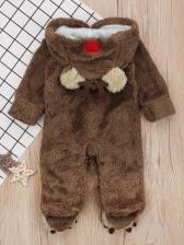 Cute Bear Hooded Christmas Sleepsuit