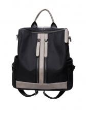 Casual Multiple Zipper Oxford Backpacks For Women