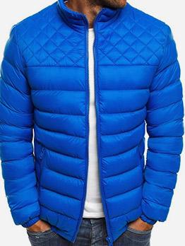Euro Solid Zip Up Men Winter Coats