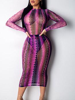 Sexy Snake Print Lightweight Two Piece Skirt Set