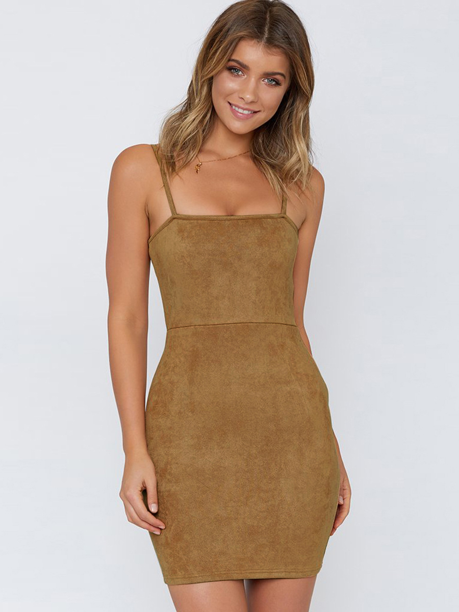 Sexy Side Zipper Sleeveless Bodycon Dress
