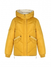 Letter Pockets Hooded Collar Loose Winter Coats