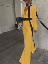 Elegant Lantern Sleeve Wide Leg Jumpsuit