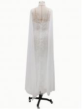 V Neck Women White Dresses For Weddings