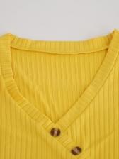 Pure Color Ribbed Split Long Sleeve Plus Size Dress