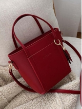 Tassel Pendant Large Capacity Handbags With Belt