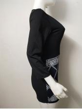Low Cut Slim Fit Long Sleeve Bodycon Dress