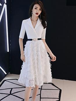 Notch Collar Short Evening Dresses Online