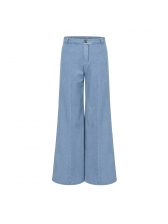 Easy Matching Blue High Waist Flare Jeans For Women