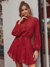 Button Down Plaid Dresses For Women