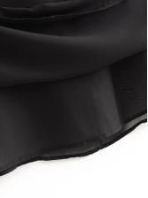Back Cut Out Midi Black Long Sleeve Dress