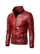 Detachable Faux Fur Collar Patchwork Men Winter Jacket