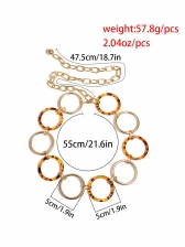 Fashion Round Hoop Chain Belts For Women