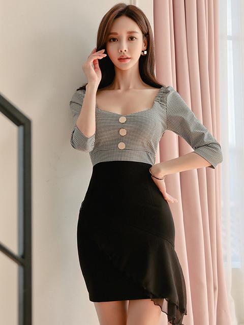 Trendy Plaid Gauze Patchwork Dresses For Women