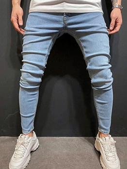 Casual Skinny Blue Boyfriend Jeans