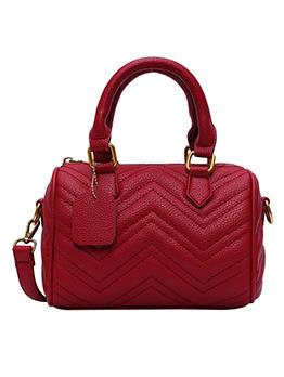 V-Shape Threads Solid Color Ladies Handbags With Belt