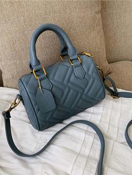 Rhombus Threads Solid Color Crossbody Handbags