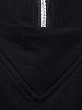 Asymmetric Hem Solid Hoodies For Men
