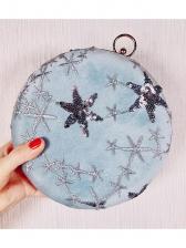 Star Sequins Embroidered Round Ladies Handbags