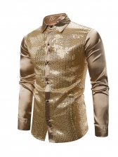 Night Club Sequins Patchwork Cute Shirts