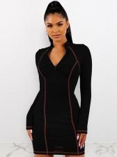 Casual Long Sleeve Bodycon Dress