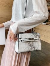 Square Snake Print Crossbody Handbags For Women
