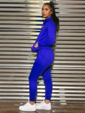 Solid Color Hooded Fitted Women Tracksuits