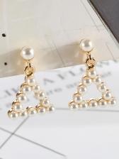 Simple Design Triangle Earrings