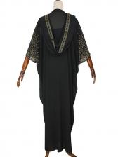 Hooded Hot Drill Long Coat And Dress Set