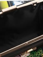 Rectangle Tassel Pendant Chain Evening Clutch Bag