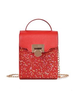 Glitter Star Sequins Chain Crossbody Phone Bag