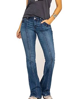 Fashion Solid Long Bootcut Jeans