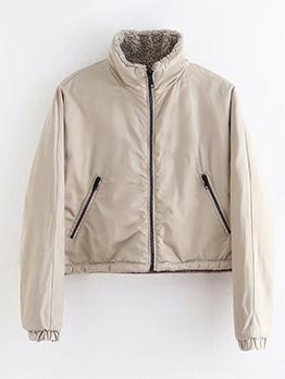 Fashion Solid Warm Fleece Coat