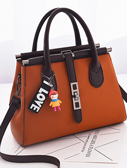 Large Capacity Metal Splicing Office Ladies Handbags