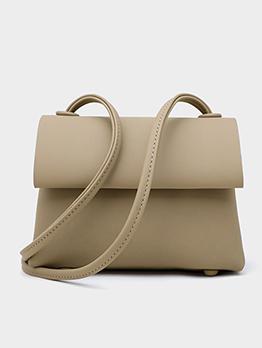 Simple Style Pure Color Thin Belt Shoulder Bags