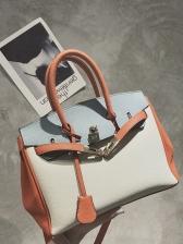 Office Ladies Stitching Color Crossbody Handbags