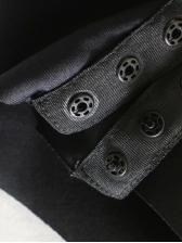 Patchwork Off Shoulder Black Velvet Bodysuit