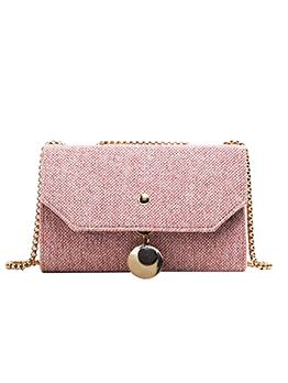Versatile Woolen Rectangle Golden Chain Shoulder Bag