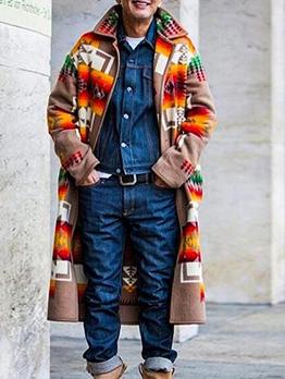 Colorful Casual Long Men Winter Coats
