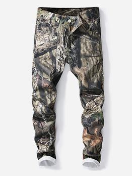 Individual Printed Straight Mens Jeans